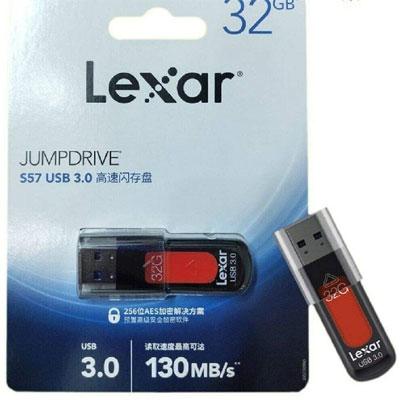 Lexar 32GB JumpDrive S57 USB 3.0 Type-A Flash Drive (Red)