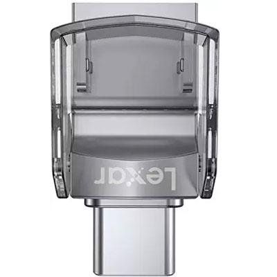 Lexar® 128GB JumpDrive® Dual Drive D35c USB 3.0