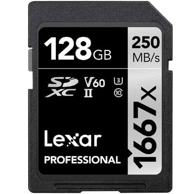 Lexar Professional 1667x 128GB SDXC UHS-II/U3 Card (LSD128CBNA1667)