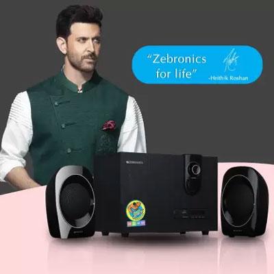 Zebronics ZEB SW2492 RUCF Laptop/Desktop Speaker (Black, 2.1 Channel)