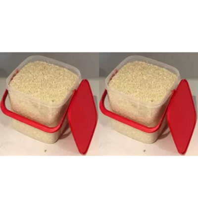 SOLOMON PREMIUM QUALITY 3KG SQUARE CONTAINER WITH RED CAP PACK OF 2