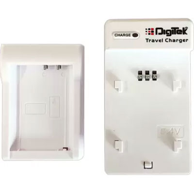 Digitek DUC 006 Travel Charger for Canon LP E10 Camera Rechargeable Battery (White)