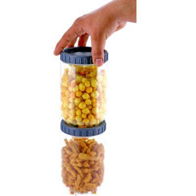 Solomon Interlock Container 1400 ml GREY Pack of 2