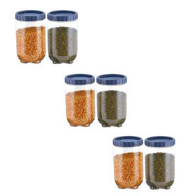 Solomon Interlock Container 1400 ml GREY Pack of 6