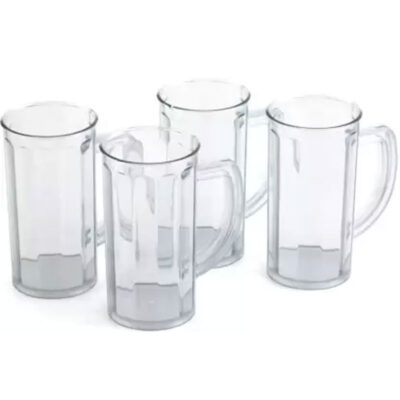 SOLOMON PREMIUM QUALITY SHAKE GLASS 400ML PLASTIC 4PCS SET