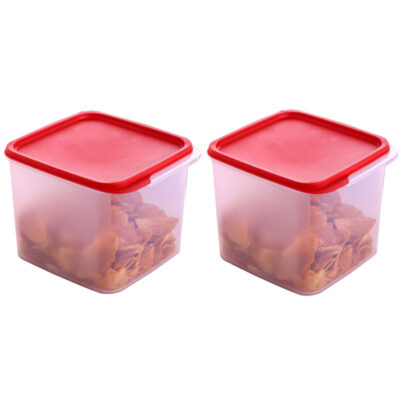 4KG SQUARE CONTAINER RED PACK OF 2