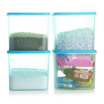 4KG SQUARE CONTAINER BLUE PACK OF 4