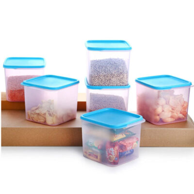 4KG SQUARE CONTAINER BLUE PACK OF 6