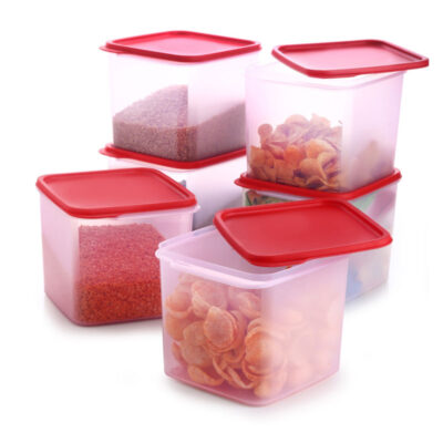 4KG SQUARE CONTAINER RED PACK OF 6