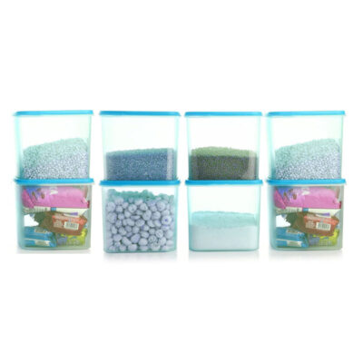 4KG SQUARE CONTAINER BLUE PACK OF 8