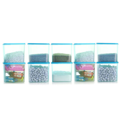 4KG SQUARE CONTAINER BLUE PACK OF 10