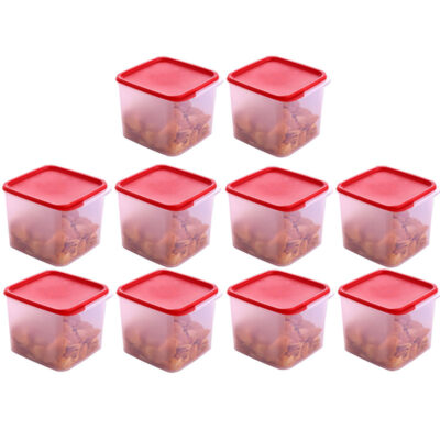 4KG SQUARE CONTAINER RED PACK OF 10