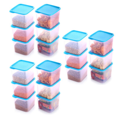 4KG SQUARE CONTAINER BLUE PACK OF 18