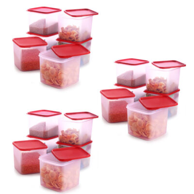 4KG SQUARE CONTAINER RED PACK OF 18