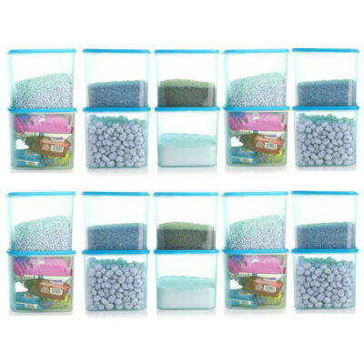4KG SQUARE CONTAINER BLUE PACK OF 20