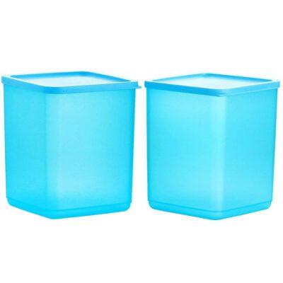 Plastic Square Container BLUE Pack of 2