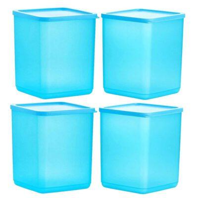 Plastic Square Container BLUE Pack of 4