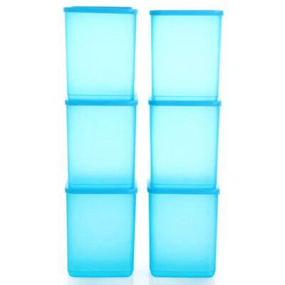 Plastic Square Container BLUE Pack of 6