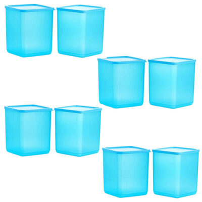 Plastic Square Container BLUE Pack of 8