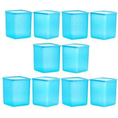 Plastic Square Container BLUE Pack of 10