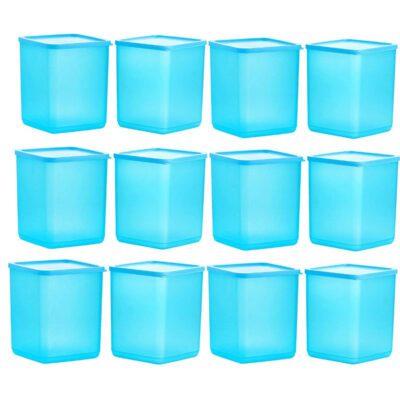 Plastic Square Container BLUE Pack of 12