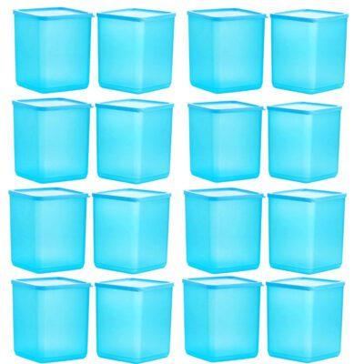 Plastic Square Container BLUE Pack of 16