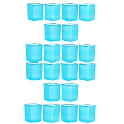 Plastic Square Container BLUE Pack of 20