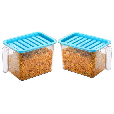 Handle Container 1100ml (BLUE) Pack of 2