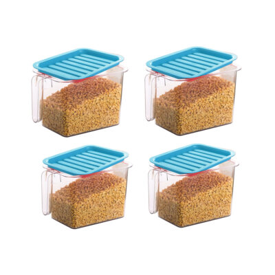 Handle Container 1100ml (BLUE) Pack of 4
