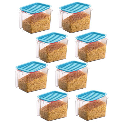 Handle Container 1100ml (BLUE) Pack of 8