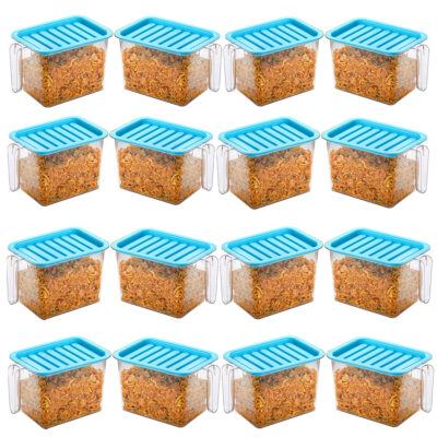 Handle Container 1100ml (BLUE) Pack of 16