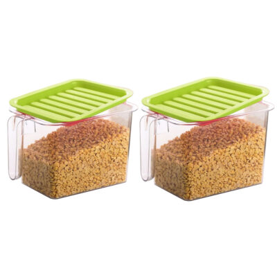 Handle Container 1100ml (GREEN) Pack of 2