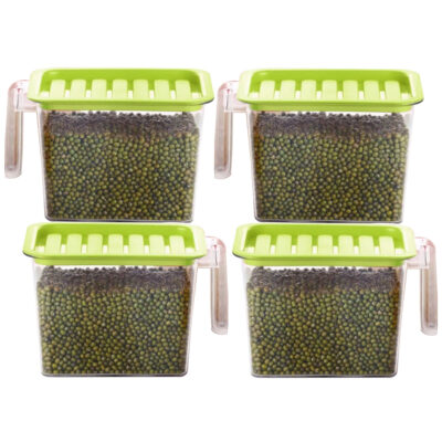 Handle Container 1100ml (GREEN) Pack of 4