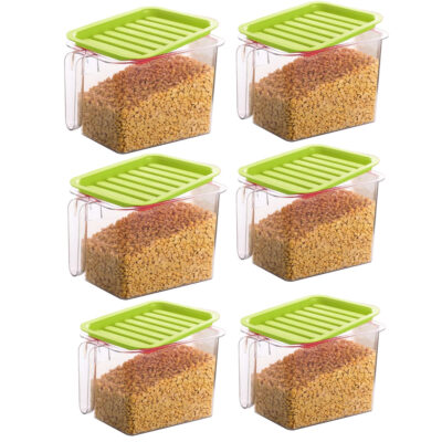 Handle Container 1100ml (GREEN) Pack of 6