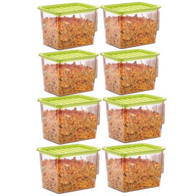 Handle Container 1100ml (GREEN) Pack of 8