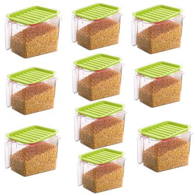 Handle Container 1100ml (GREEN) Pack of 10