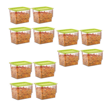 Handle Container 1100ml (GREEN) Pack of 12