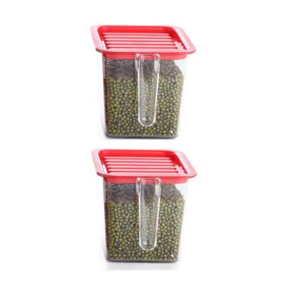 Handle Container 1100ml (Red) Pack of 2