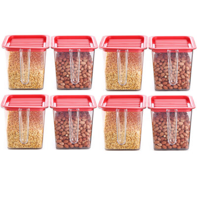 Handle Container 1100ml (Red) Pack of 8