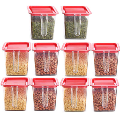 Handle Container 1100ml (Red) Pack of 10