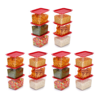 Handle Container 1100ml (Red) Pack of 18