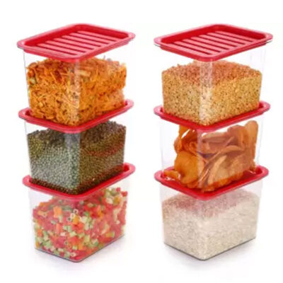 Handle Container 1100ml (Red) Pack of 6