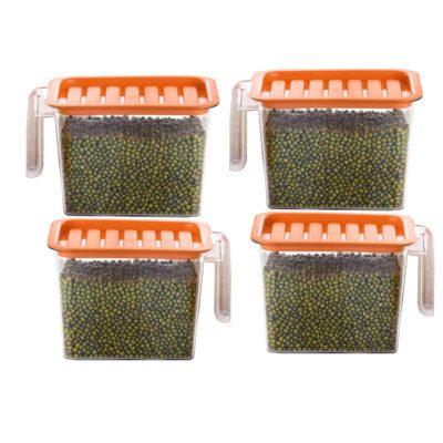 Handle Container 1100ml (ORANGE) Pack of 4