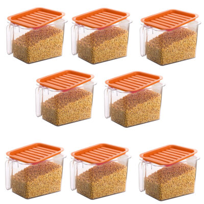 Handle Container 1100ml (ORANGE) Pack of 8