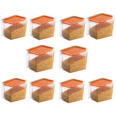 Handle Container 1100ml (ORANGE) Pack of 10