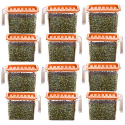 Handle Container 1100ml (ORANGE) Pack of 12