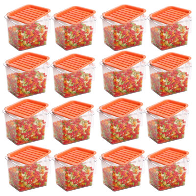 Handle Container 1100ml (ORANGE) Pack of 16
