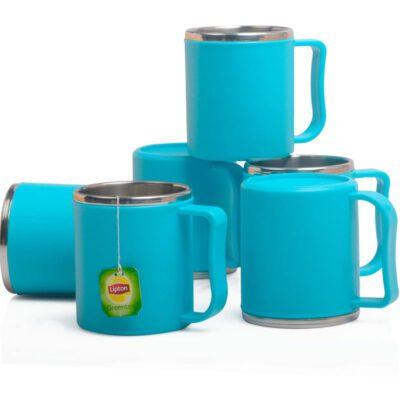 Steel Coffee Mug PACK OF 6 -BLUE
