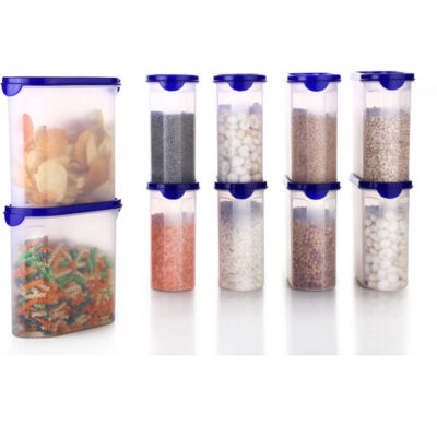 Solomon Ovel Container 1800ml (BLUE) Pack of 10