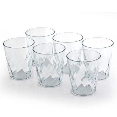SOLOMON CRYSTAL GLASS PLASTIC 6PCS SET